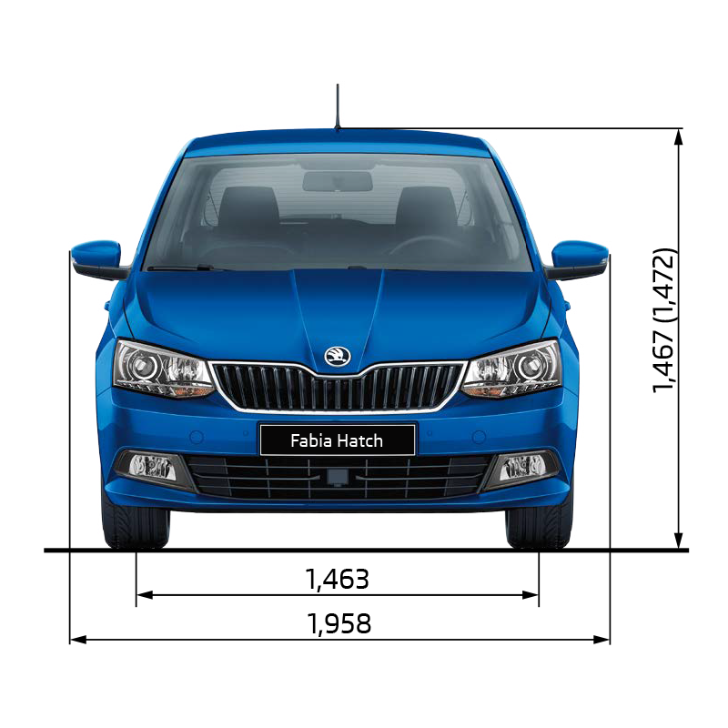 Fabia Dimensions Front Elevation