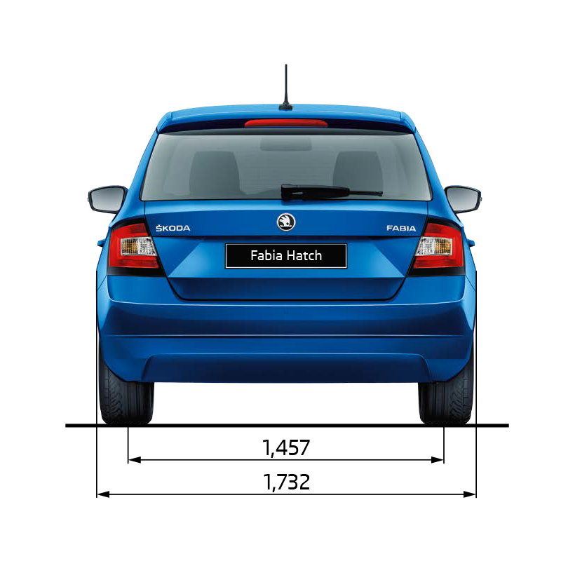 Fabia Dimensions Rear Elevation