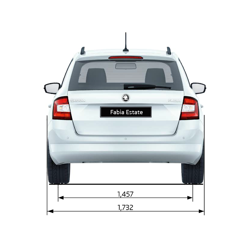 Fabia Estate Dimensions (Rear Elevation)